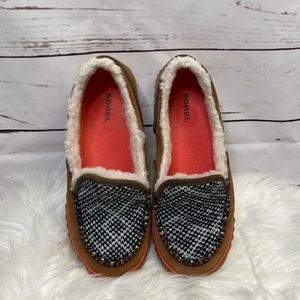 Sorel Tremblant Fleece Lined Blanket Slipper Shoes